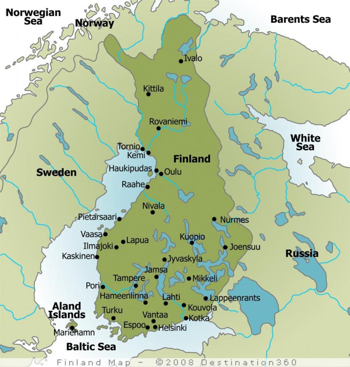 Camping Finland Kort Kort Over Camping Finland I Det Nordlige