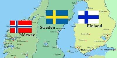 Helsinki Finland Kort Kort Over Helsinki Finland I Det